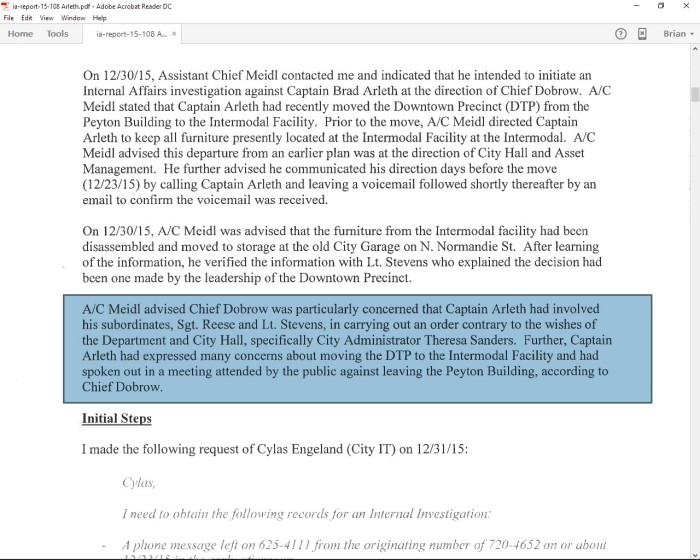 Lundgren report of Meidl Complaint