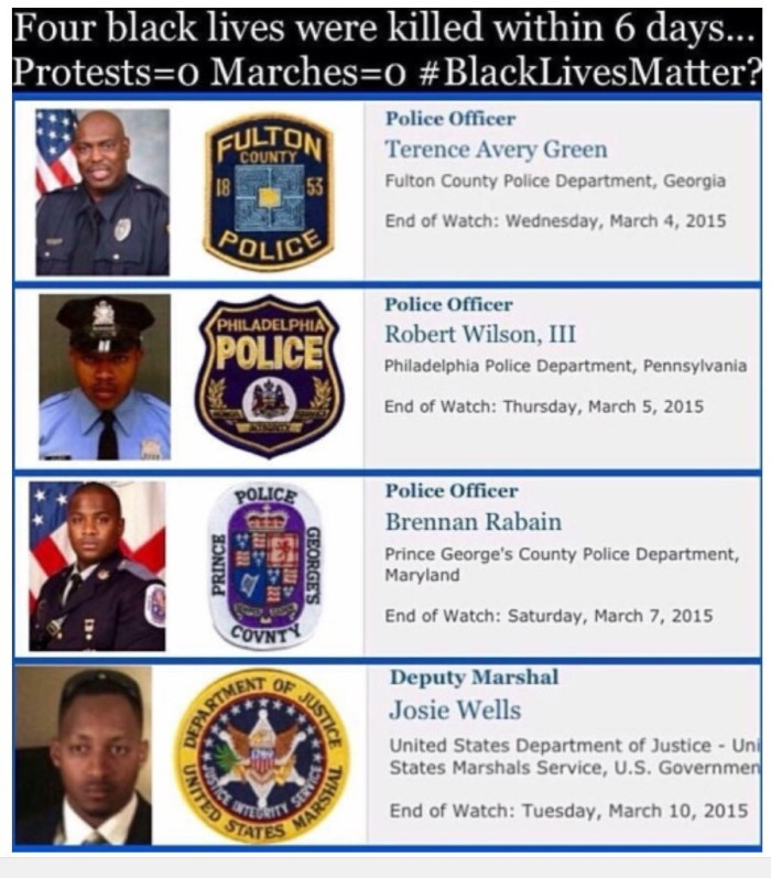 Black Officers Killed