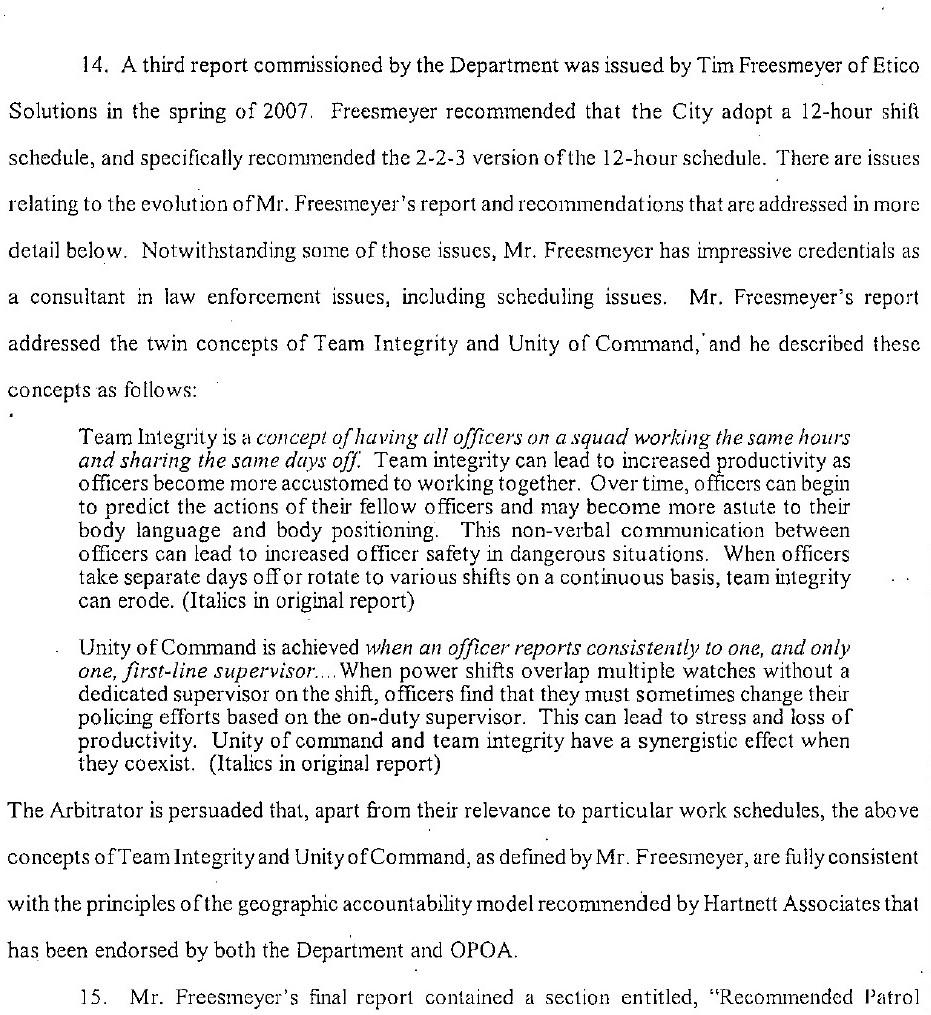 Okakland Interest Arbitration Freesmeyer