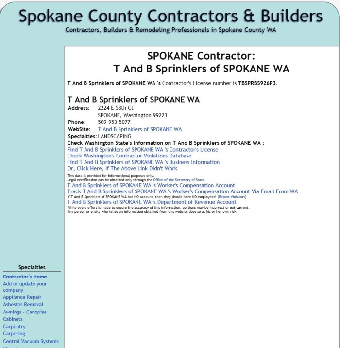 Spokane County Contractors