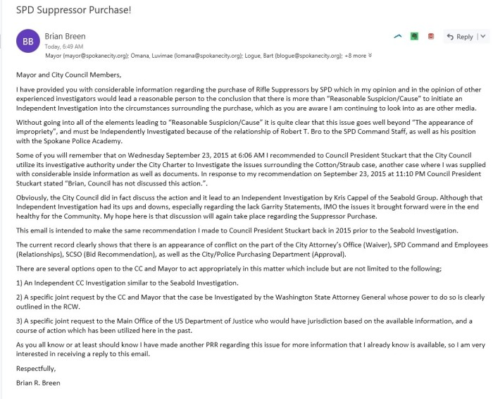 Suppressor Email CC Mayor