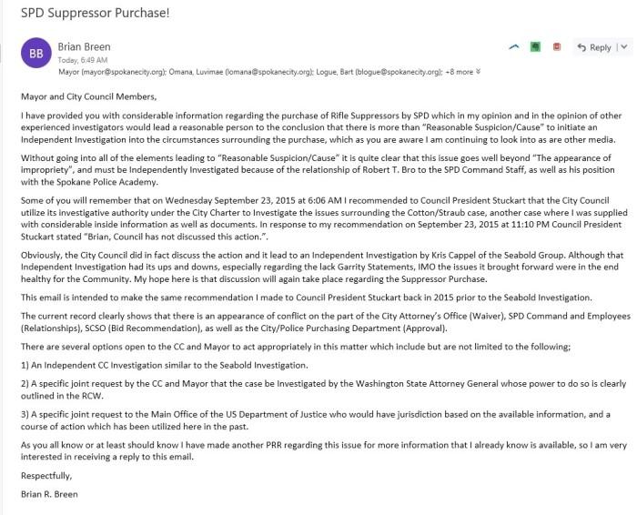 Suppressor Email CC Mayor