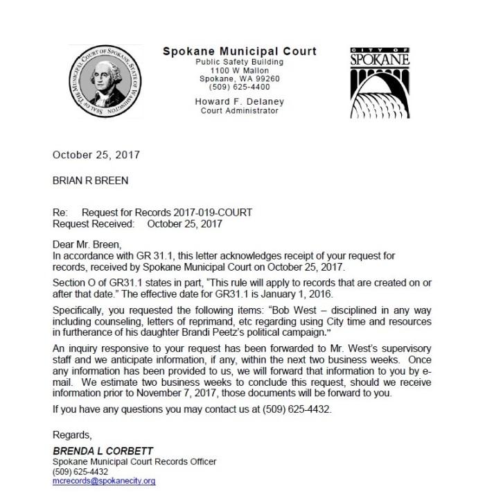 West PRR Letter