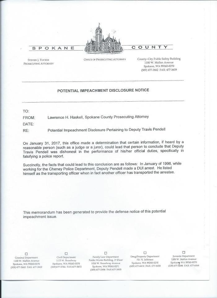 Pendell Brady Document 1