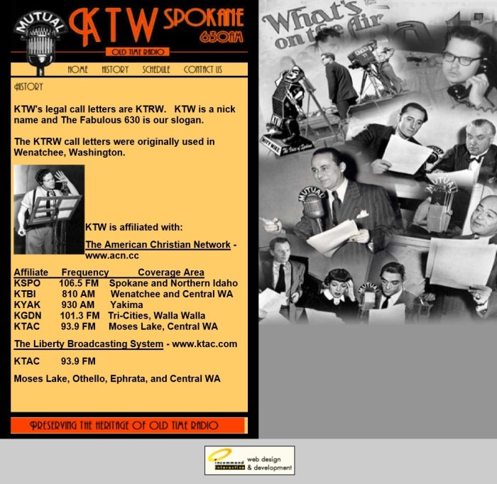 KTW's legal call letters