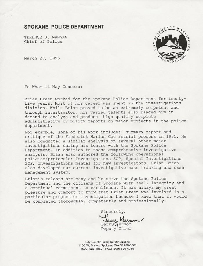 Retirement Letter Hersom
