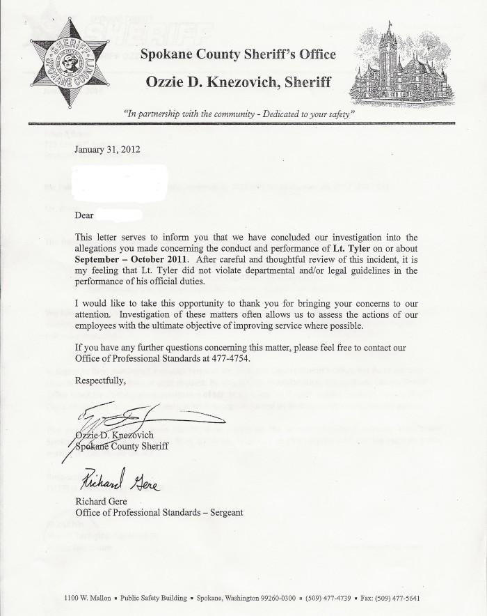 Tyler Exonerated Letter