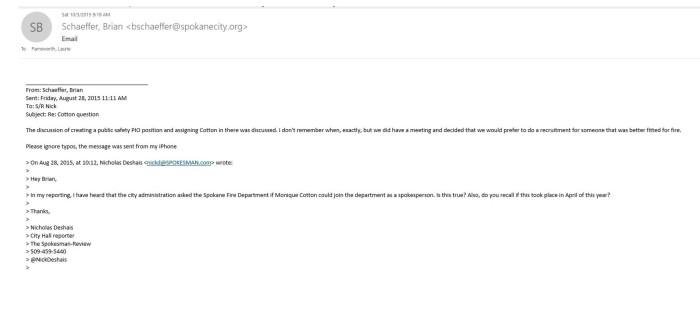 Schaeffer email