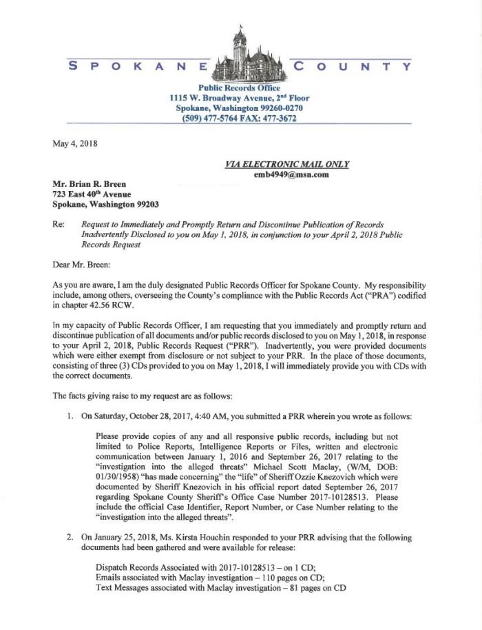 Threat Letter 1