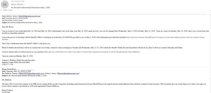 Baldwin email