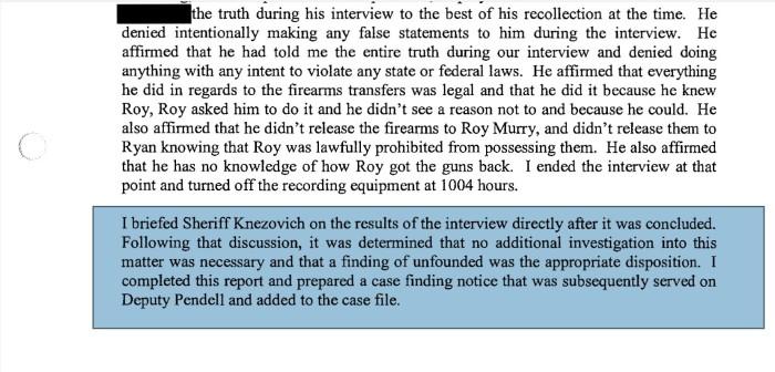 Stop Investigation Ozzie
