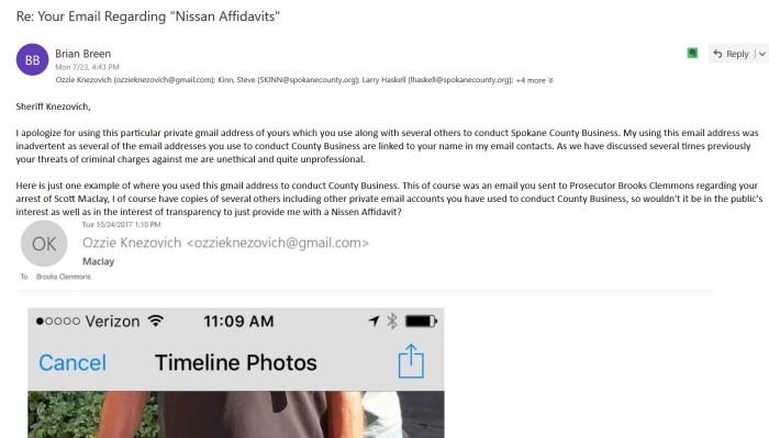 My email regardin Ozzie using gmail