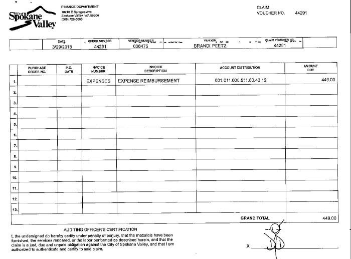 Peetz reimbursement 1