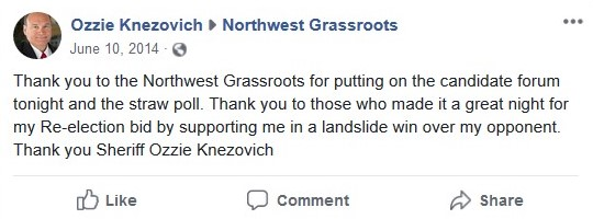 Ozzie thanks NWGR