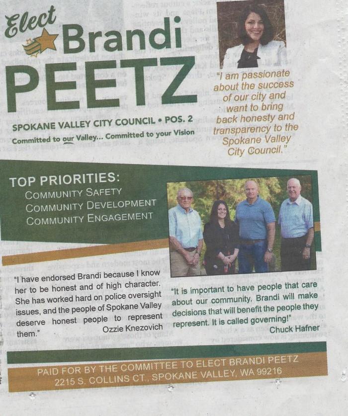 Ozzie Peetz Endorsement