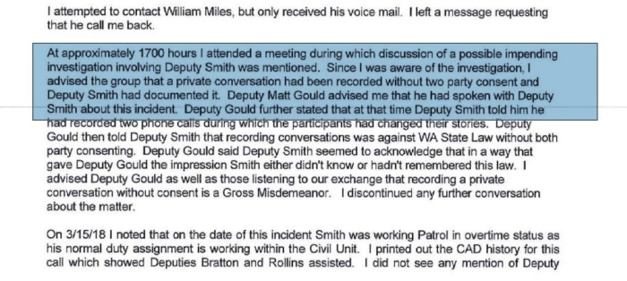 Possible impending Smith investigation